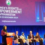 #Afghanistan MP @ShinkaiKarokhil at #AfghanWomenOslo: Need National Commission on Status of Women http://t.co/IrUJl2HpE6