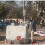 SZABIST students cleaning up the streets around their campus -- for a change cleaning up their own mess http://t.co/QnXEyXfe6m