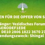 Spendenaufruf des Zentralrats der #Yeziden in Deutschland: http://t.co/BkOrU5tI48 #bdk14 http://t.co/4VWKF9UCp6