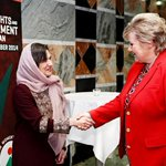Rula Ghani, First Lady of Afghanistan and Erna Solberg, Prime Minister of Norway. #AfghanWomenOslo http://t.co/yRtvVUCPh9