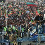 Just the beginning and Gujranwala crowd already in large numbers. #GujranwalaForPTI http://t.co/vz1SVwEVT0