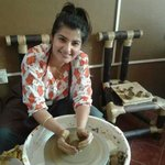 &atlast i tried doing something which i always wanted to do..#pottery #happy #newexperience #mysore #thehobbyplace