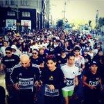 #KmsPorAyotzinapa la manifestación de corredores. ¡Qué gran idea! ¡Qué pinche chulada de protesta! 👏👏👏 http://t.co/dQcN7uY30s