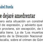 No me dejaré amedrentar - Por María Isabel Rueda http://t.co/Sdf2TUJVgz vía @ELTIEMPO @mgomezmartinez @jcpastrana http://t.co/79a5OGODNf