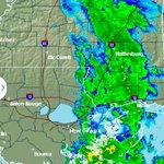 Rain is moving NE. #nola #mswx #fb @PoBoyFest http://t.co/KZS4ryr01v