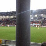 One Bolton fans view/seat at Blackpool yesterday. http://t.co/AdottcVCzi