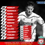 Confirmed: #LFC's starting XI and substitutes v Crystal Palace http://t.co/nlm1BGpMbT