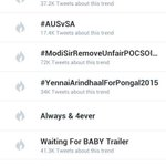 Boom !! Pongal Celebrations has Kickstarted in style with Worldwide Trend #YennaiArindhaalForPongal2015 http://t.co/WpbFHhtGT9