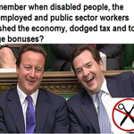 #CameronMustGo because hes taking money from the poor to give to the rich http://t.co/GwVF3kXUos