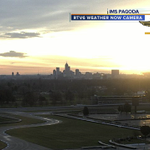 Beauty shot! Awesome #sunrise over #Indy in progress. Make it a great Sunday! http://t.co/sNNVFlWG4w