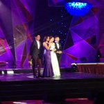 Kim Chiu, Enchong Dee, Piolo Pascual, and Iza Calzado host the 28th PMPC Star Awards for TV. http://t.co/ME6i1vrgJG