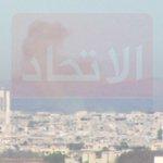 جراء إلقاء الطيران المروحي لبرميلين متفجرين على مدينة #كفر_زيتا في #ريف_حماة. http://t.co/j9sJrFYBL5