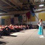 Lexi aka Elsa taking on the crowd with her rendition of Let it Go. It was flawless to say the least! http://t.co/g6GB73UCUH