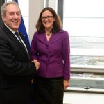 Judged by the smiles of @MalmstromEU and @MikeFroman they made a good new start on TTIP free trade talks. http://t.co/AJKR0Q6qZF