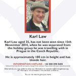 @mattletiss7 dont follow me! but #fareham man missing in #Prague plz RT n #saints #pompey #fans 2 help #findkarllaw http://t.co/ISXys5iesl