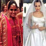 RT @moviesndtv: Pics: 2014's Best Dressed Brides. From Arpita Khan to Angelina Jolie http://t.co/ivQ0JZI0W8
