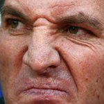 Brendan Rodgers reaction to Crystal Palaces equaliser. http://t.co/tvEEw5jqjy