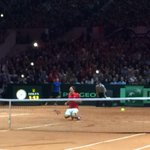 SWITZERLAND WINS!!! @rogerfederer defeats Gasquet to give Switzerland its 1st #DavisCup title! http://t.co/JJDmai9ug3