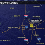 An earthquake shakes the Dallas-Fort Worth Saturday night. @9News #9wx http://t.co/6OsqAgUiNq