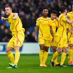 HALF-TIME Crystal Palace 1-1 Liverpool. Rickie Lambert opens his @LFC account before Dwight Gayle levels #CRYLIV http://t.co/8jgUVbxv8N