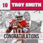 Congrats to Buckeye great Troy Smith who will have his jersey # enshrined in Ohio Stadium this weekend http://t.co/GiM2Kmn1tv