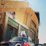 Ever wonder how they get up there?! #GivesYouWings #RedBullMini #Amman #JO http://t.co/X9asR93Ds6