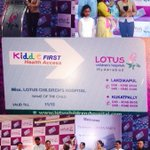 At the inauguration of Kiddie First, health access card at the Lotus Children Hospital in Hyderabad http://t.co/prta6MDlQ7