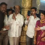 #Superstar #Rajinikanth Latest Pic At Bangalore for a relative marriage http://t.co/O3CJWqQz1W