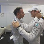 A great show of class as Rosberg congratulates @MercedesAMGF1 team mate and 2014 champion Hamilton #AbuDhabiGP #F1 http://t.co/ETSXLf3D2T