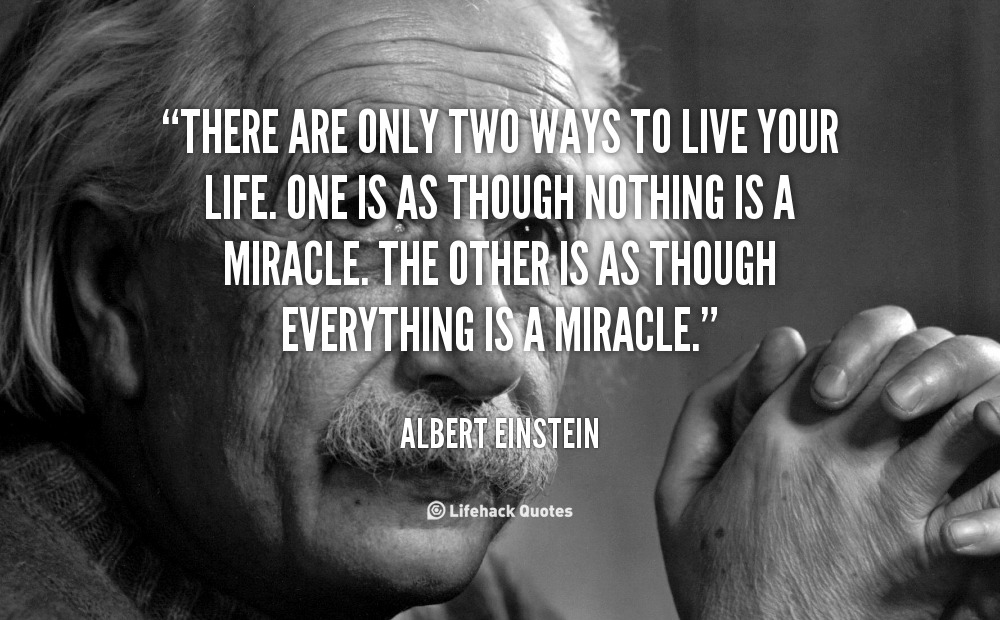 Live life as though everything is a miracle... http://t.co/3St4zy9QCX