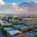 Downtown Pensacola sunset from the sky. http://t.co/fx4NmdP3Su