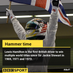 Lewis Hamilton's win is his 11th of 2014, making him the first non-German driver to win that many in one year. http://t.co/PH9lx1ptBw