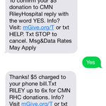Everyone text Riley to 90999 every little bit counts @PUDM http://t.co/Ell5sywzU7