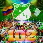 ¡102 años de Ejemplo y Orgullo gracias a tu apoyo incondicional! ¡FELIZ CUMPLEAÑOS GLORIOSO! #DeportivoCali102Años http://t.co/xu6HOi3m95
