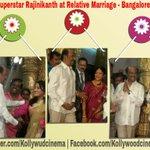 #Superstar #Rajinikanth in Bangalore for a relative marriage today. PIC @Rajini_F_C Design by : #Sai http://t.co/BkHSsI2Pqo