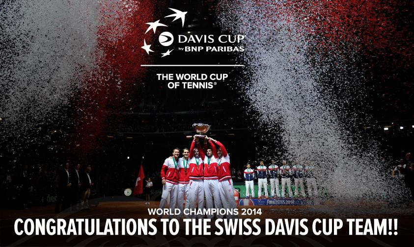 Congratulations to the Swiss #DavisCup team - #DavisCup World Champions 2014! http://t.co/EQznnv6CmZ
