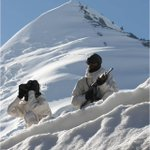 A friend on #facebook posted this rare pic of two Indian army members in #Siachen . #Respect