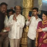 Latest Photo of #Thalaivar #Rajinikanth attending relatives marriage in Bangalore (Pic 2) http://t.co/9CIc1Yihwh