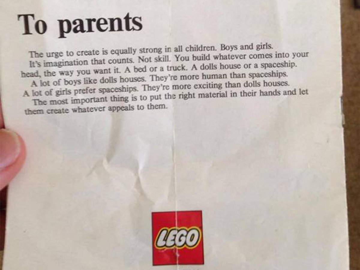 Lego letter from the 1970s still offers a powerful message to parents 40 years later http://t.co/6QEyNwAivc http://t.co/Kd5i3qKhlf