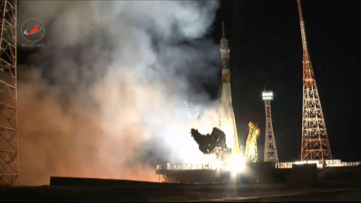 And Liftoff ! Godspeed @AstroSamantha @AstroTerry and @AntonAstrey !!! http://t.co/5wOSrzXGIP