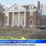 All frats suspended at University of Virginia following sexual assault allegations. http://t.co/0Ftlwfrmim