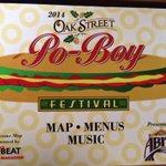 #ComeDressed @PoBoyFest inside/outside bars open. Duck Po-Boy, Shrimp, fried green tomato http://t.co/XBuMn6anzm
