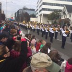 The Butler PA Golden Tornado Marching Band spans a city block at #StamfordParade http://t.co/yUrc7mcQVl