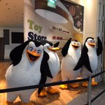The Madagascar penguins are taking over Basingstoke. Smile and wave boys...smile and wave... http://t.co/Ajp2VxzjbN