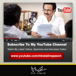 RT @mkstalin: I'm on YouTube. Watch my latest videos, speeches & interviews online: https://t.co/TpiLdGJbXu http://t.co/40PrJh5pxg