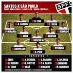 Boa tarde, Tricolores! Hoje é dia de clássico conta o @santosfc !  O @SaoPauloFC vai a campo com: http://t.co/36WVCejRO1