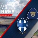 ¡Comienza el primer tiempo! @PumasMX vs @Rayados en el Estadio Olímpico ¡#VamosRayados, con el corazón en la cancha! http://t.co/uuQYki4fJN
