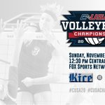 .@WKUVolleyball and @OwlsVB begin the match at 12:30 p.m. CT on @FOXSports! Be sure to tune in. #CUSAVB #CUSAChamp http://t.co/IuIZoxcUJ9