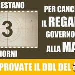 PER CANCELLARE IL REGALO DEL GOVERNO #renzi ALLA MAFIA. Mancano 3 giorni, condvidete: http://t.co/tKxRIc9ude http://t.co/ulxbDlLjvu