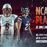 The @LibertyFootball team will play JMU on Saturday, Nov. 29th at 4pm! #GoFlames #BeatJMU http://t.co/eyfixgII9q